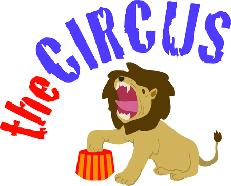 Use this tame lion for a fun circus theme  project.