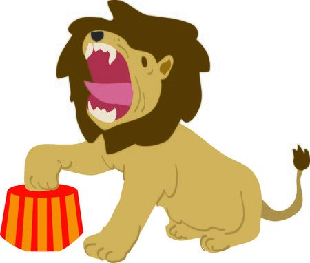 tame: Use this tame lion for a fun circus theme  project.