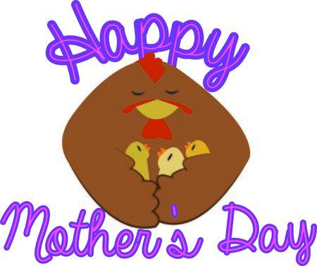 Moms schützen immer ihre Küken. Machen Sie Ihre Mutter ein besonderes Design. Standard-Bild - 44888638