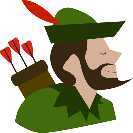 Robin Hood is a wonderful design for a fantasy project.