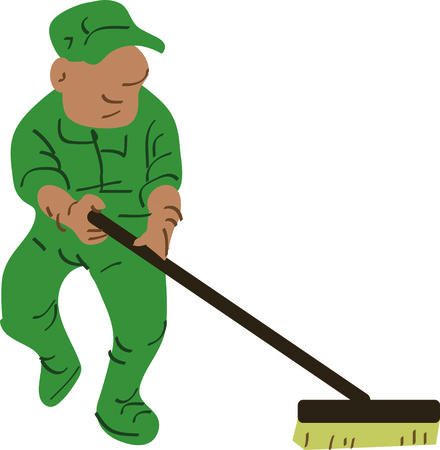 janitor: Use this janitor to clean up the circus or celebrate your favorite worker.