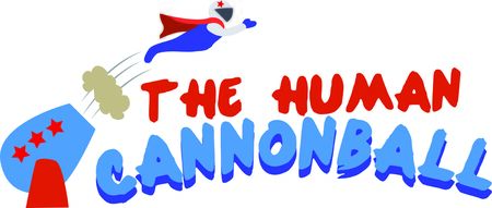 cannonball: Use this human cannonball for a fun circus  or project.