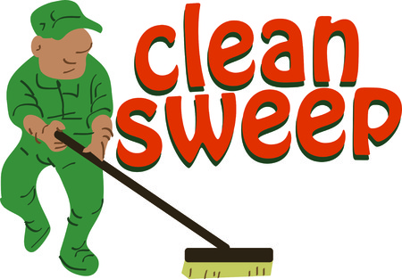 to clean up: Use this janitor to clean up the circus or celebrate your favorite worker.