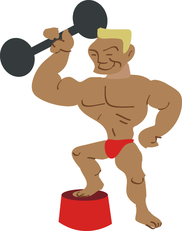 What a fun addition to a circus theme! Use the strongest man alive on your circus project.
