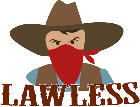 bandana western: Add an outlaw to a western project.