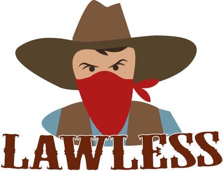 bandana western: Add an outlaw to a western project.