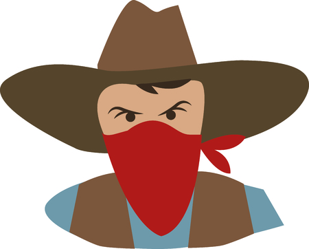 Add an outlaw to a western project.