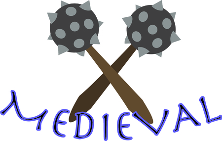 spiked: Show off your medieval side with spiked maces on a t-shirt.