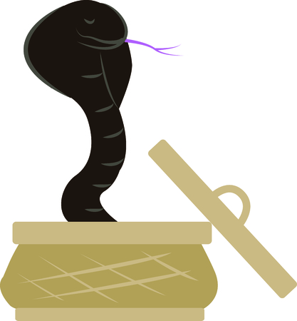 king cobra: Be charming with a cobra on your t-shirt. Illustration