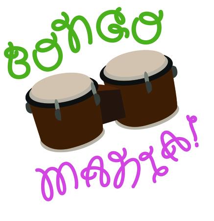 이 bongos를 드러머를위한 재미있는 셔츠로 사용하십시오. 스톡 콘텐츠 - 44888781