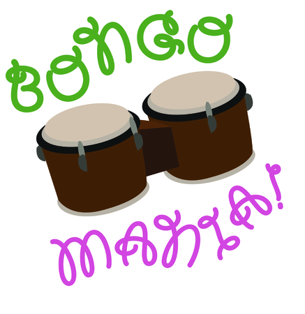 Use this bongos for a fun shirt for a drummer.