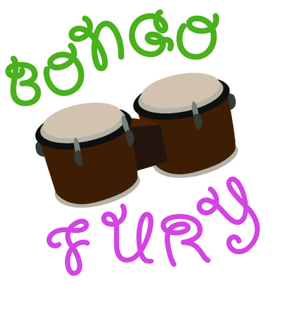 fury: Use this bongos for a fun shirt for a drummer.