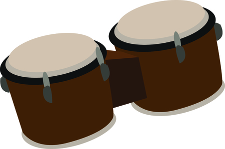 bongo drum: Use this bongos for a fun shirt for a drummer.
