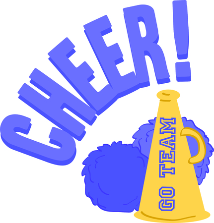 cheer leader: Use this megaphone and pom-poms to cheer on your favorite team.