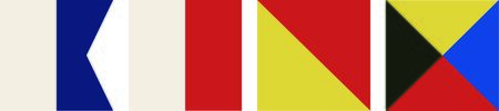 nautical flags: These nautical flags are perfect to add to your boat.