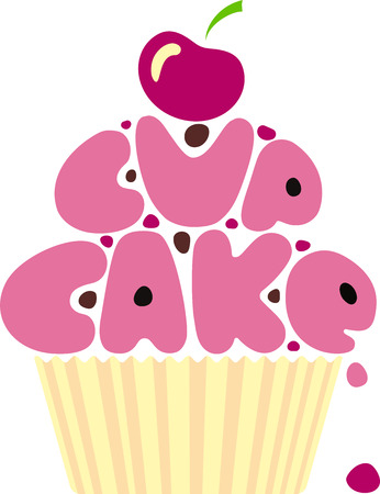 Everyone loves cupcakes and this design is so cute with a cherry on top!
