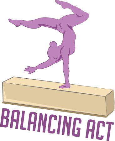 balance beam: Gymnasts will love a balance beam design.