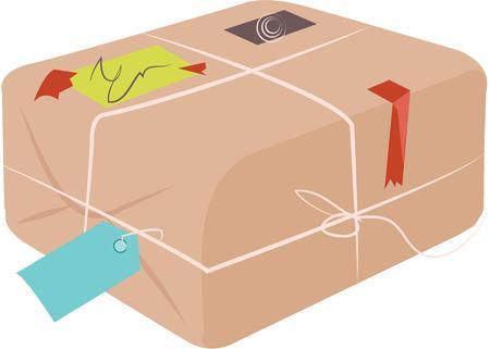 Ce package peut être un cadeau spécial. Banque d'images - 44918582