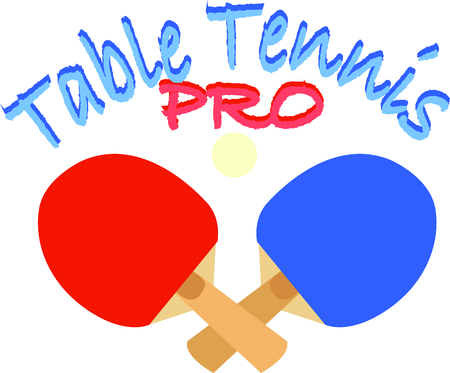 Looking for the perfect Birthday or Christmas gift Embroider this design on clothes, towels, pillows, gym bags, quilts, t-shirts, jackets or wall hangings for your tennis table enthusiast!.