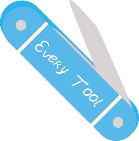 남자들은 포켓 나이프를 가지고 다니기를 좋아합니다. 스톡 콘텐츠 - 44918591