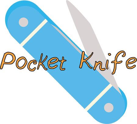 blade cut: Men love to carry pocket knives.