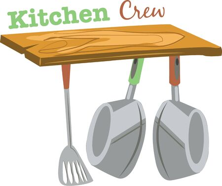 Accent a kitchen with cooking pots. Imagens - 44918599