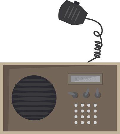 A ham radio will make a wonderful design on a ball cap.
