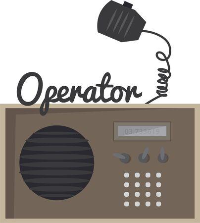 アマチュア無線がボール キャップを素晴らしいデザイン。 写真素材 - 44918603