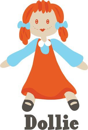 rag: Girls will love this little rag doll.