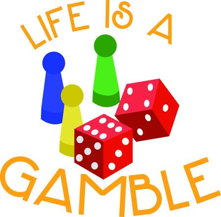 Pas besoin de lancer les dés ou de placer un pari, cette conception est sûre d'apporter l'excitation d'un grand jeu directement sur des serviettes, coussins et plus encore! Banque d'images - 45696889
