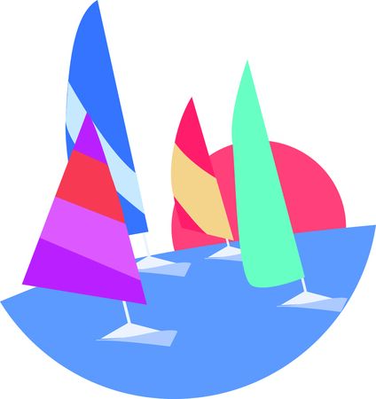 Put these sailing boats on a shirt for your next boating ride.