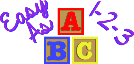 ABC blocks are always found in a toddlers room.  Add these to shirts for them to wear.