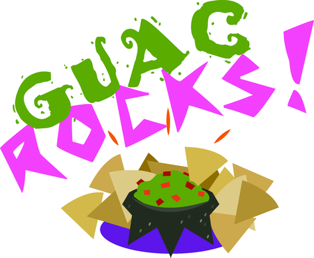 avocados: Chips and guacamole design is perfect to add to items for your next fiesta.