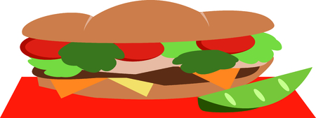 A footlong sandwich is the perfect design to promote your sandwich business.