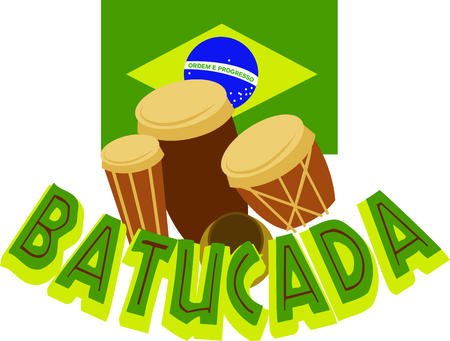 Grab drums and enjoy the beach.  Use this image to remember that wonderful day! Иллюстрация