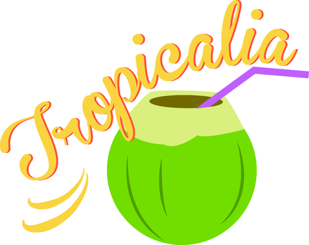 coconut drink: Grab a coconut drink and enjoy the beach.  Use this image to remember that wonderful day!