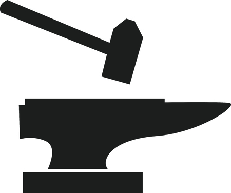 This anvil and hammer is a great icon for a blacksmith. Ilustrace