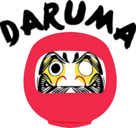 buddhism: Display your love of Buddhism with this Daruma doll on a hat.