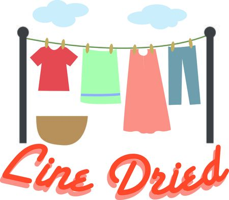 laundry line: Make laundry day fun with a line of clothes.
