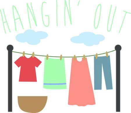 laundry line: