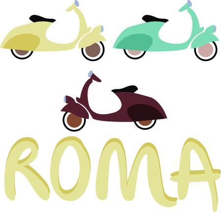 vespa piaggio: Guidare un veicolo ecologico - guidare questo Vespa! Questo scooter motorizzato è tale divertimento su una giacca o una camicia di guida. Vettoriali