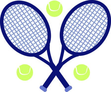 Use this tennis design for a fun polo shirt. Illustration