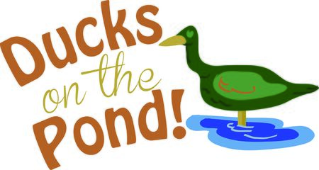 outdoorsman: This duck will look great on a shirt for a hunter or outdoorsman.