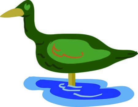 This duck will look great on a shirt for a hunter or outdoorsman.