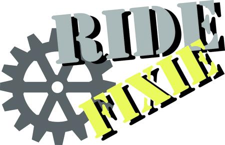 この自転車のギアは、熱心なサイクリストのシャツのお楽しみになります。
