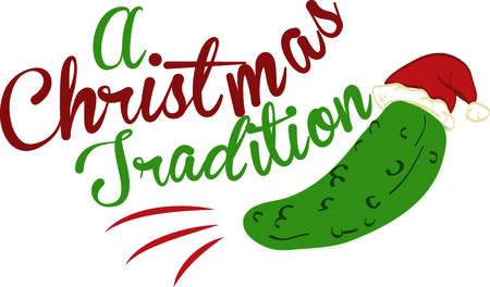 pickle: Remember a fun Christmas tradition with this Kosher Christmas pickle, perfect for a family shirt.