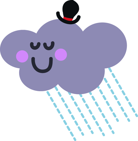 toddlers: This happy cloud will look cute on a toddlers shirt.