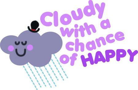 この幸せの雲は幼児のシャツかわいいです。 写真素材 - 44920238