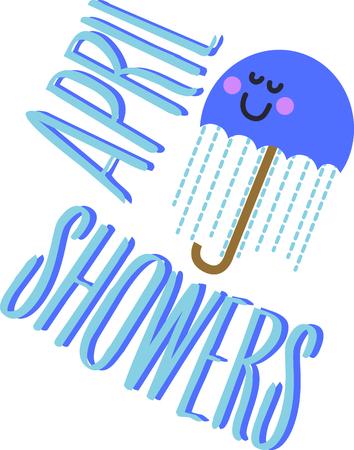 Ce parapluie mignon sera amusant la chemise d'un adorable bambin. Vecteurs