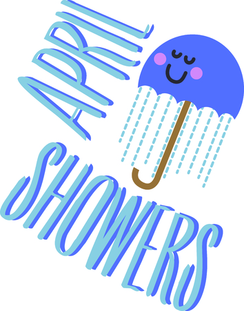 umbrella month: This cute umbrella will be fun an adorable toddlers shirt.